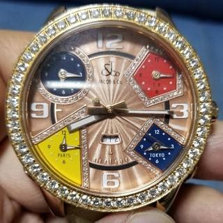 炎上価格 値下げ中 ジェイコブ K18PG 激レア文字盤 バックルダイヤモンド (腕時計(デジタル))