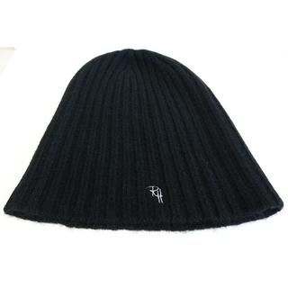ロンハーマン(Ron Herman)の美品 ロンハーマン カシミヤ ニット帽 ブラック(ニット帽/ビーニー)