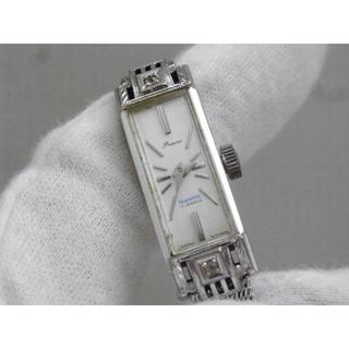 オリエント(ORIENT)のOrient Princess 手巻き腕時計 BLUE WHITE 17J 角型(腕時計)