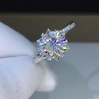 【2カラット】輝く薔薇 モアサナイト ダイヤモンド リング(リング(指輪))