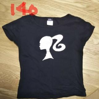 バービー(Barbie)のバービー 黒Tシャツ  140(Tシャツ/カットソー)