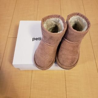 プティマイン(petit main)のプティマイン ムートン調ブーツ 女の子 16㎝(ブーツ)