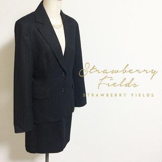 ストロベリーフィールズ(STRAWBERRY-FIELDS)のストロベリーフィールズ☆冬物スカートスーツ(スーツ)