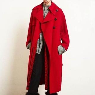ルシェルブルー(LE CIEL BLEU)のルシェルブルー キルティング コート 赤色 レッド リステア アイレネ (ロングコート)