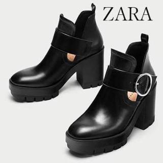 ZARA - Zara トラックソールブーツ 厚底ブーツ
