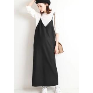 IENA - IENA ★ライトツイード キャミワンピ 38 ブラック