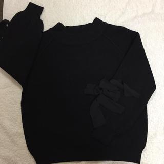 アウィーエフ(AuieF)の黒 ニット M(ニット/セーター)