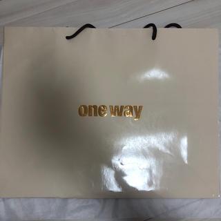 ワンウェイ(one*way)のone way ショッパー(ショップ袋)