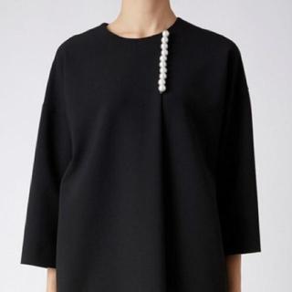 BARNEYS NEW YORK - 美品 YOKO CHAN ヨーコチャン パールサックドレス 36 ブラック