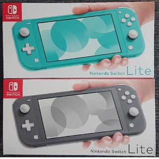 ニンテンドースイッチ(Nintendo Switch)の【新品】Nintendo Switch Lite ターコイズ グレー セット(携帯用ゲーム機本体)