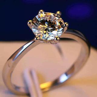 9号ホワイトゴールド!ラグジュアリーAAA級CZダイヤモンド/エタニティリング(リング(指輪))
