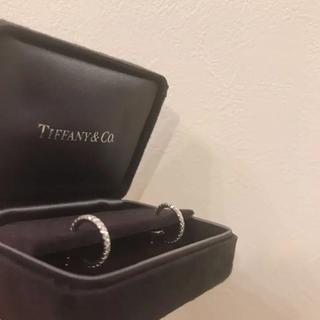 Tiffany & Co. - ティファニー メトロ フープピアス wg K18