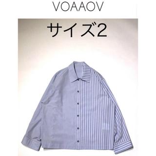 ジエダ(Jieda)のVOAAOV 19ss ストライプシャツ サイズ2(シャツ)