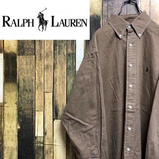 Ralph Lauren - 【激レア】ラルフローレン☆ワンポイント刺繍ロゴチノボタンダウンシャツ 90s