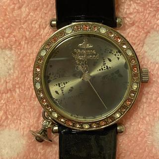 Vivienne Westwood - ヴィヴィアンウエストウッド 腕時計 スワロフスキー ピンク オーブ