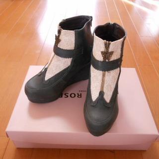 アクシーズファム(axes femme)のアクシーズファムのレース付きウェッジショートブーツ(ブーツ)