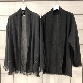 COMOLI - 19ss comoli カシミヤ和紙ストールジャケット ブラック