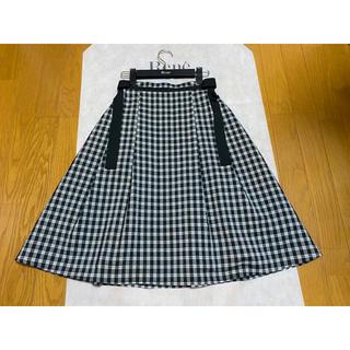 René - ルネ ギンガムチェック スカート 34 ブラック×ホワイト