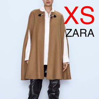 ZARA - ZARA ポケット付き ロングケープ ポンチョ ポンチョコート コート