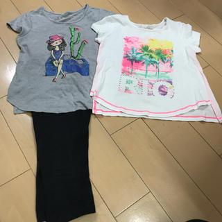 エイチアンドエム(H&M)の5歳用 ジェシカ シンプソンズ Tシャツ2枚 レギンス(Tシャツ/カットソー)