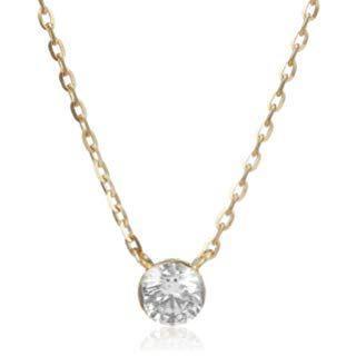 agete - agete K18 ダイヤモンド ネックレス ¥52,800