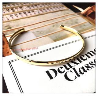 トゥモローランド(TOMORROWLAND)の限定値下 新品 ドゥーズィエムクラス 華奢ゴールドバングル DEUXIEME(ブレスレット/バングル)
