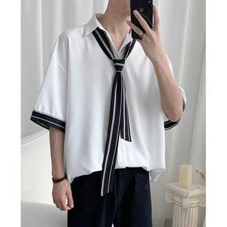 【新品未使用】ビッグシルエット シャツ ルーズ 韓国ファッション L