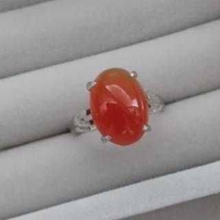 07 昭和レトロ 赤瑪瑙リング アンティーク 指輪(リング(指輪))