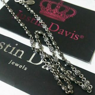 Justin Davis - JustinDavis Tiny cross ネックレス チェーン40㎝