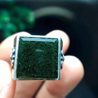 【天然】グリーン ガーデン クォーツ リング s925(リング(指輪))