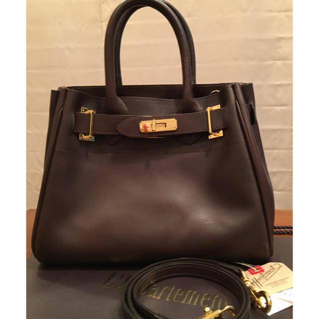 L'Appartement DEUXIEME CLASSE(アパルトモンドゥーズィエムクラス)のアパルトモンSITA PARANTICA 2WAYBAG ブラウン レディースのバッグ(ハンドバッグ)の商品写真