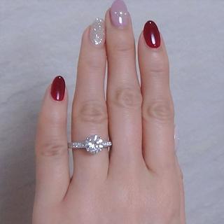 2.032カラット レアな超大粒ダイヤモンド 鑑定書付きです(リング(指輪))
