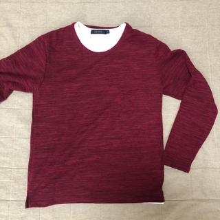 レイジブルー(RAGEBLUE)の未使用★レイジブルー★レイヤードニットソー★S(Tシャツ/カットソー(七分/長袖))