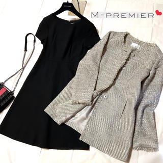 M-premier - エムプルミエ❤︎ツイードノーカラーコート×ワンピース 入学式 卒業式 通勤