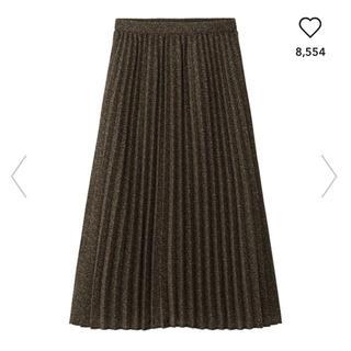GU - ジーユー プリーツミディスカート プリーツ スカート ミディスカート 花柄 GU