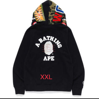 A BATHING APE - BAPE PUSHA SHARK FULL ZIP HOODIE
