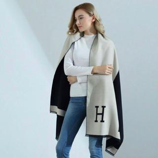 Hermes - Hロゴ♡カシミアタッチ♡新品未使用大判ストール