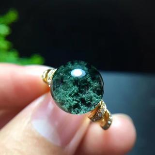 【天然】グリーン ガーデン クォーツ リング s925 11.4mm (リング(指輪))