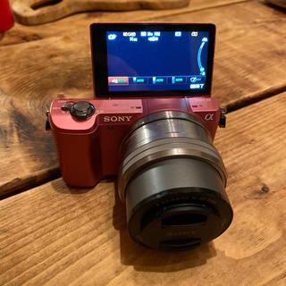 SONY - Sony α5000 ミラーレス一眼 ピンク