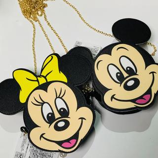 Disney - ミッキー ミニー ショルダーバック ポーチ ネックポーチ コインケース チェーン
