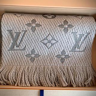 LOUIS VUITTON - Louis Vuitton 新品 マフラー エシャルプ ロゴマニア グレー