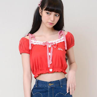 Katie - タグ付き新品未使用 Katie puff top red 赤 レッド
