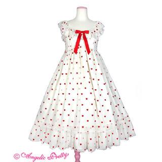 アンジェリックプリティー(Angelic Pretty)のPetit Heartジャンパースカート(ひざ丈スカート)