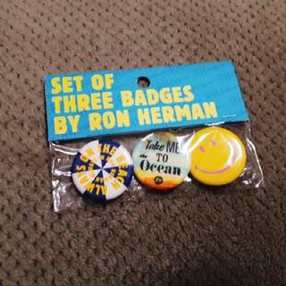 ロンハーマン(Ron Herman)のロンハーマン バッジ3個セット(インテリア雑貨)