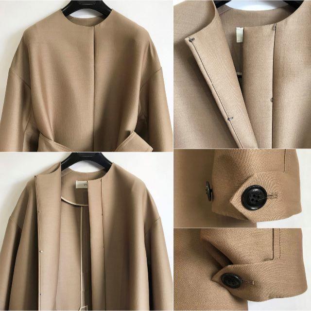 Drawer(ドゥロワー)の18AW完売*CYCLAS シクラス*ウールシルク ノーカラーコート レディースのジャケット/アウター(ロングコート)の商品写真