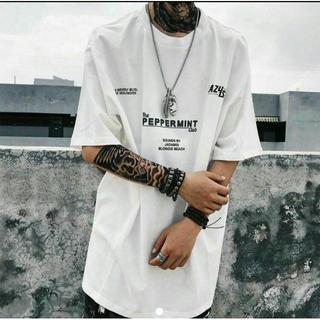 オーバーサイズT メンズ レディース 半袖Tシャツ ビッグT  白 XL