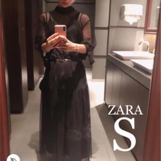 ZARA - 【新品・未使用】ZARA ドット メッシュ ワンピース S