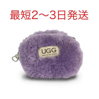 UGG - 【新品】アグ  UGG ファー ポーチ コインケース 本革 ライトブルー 水色