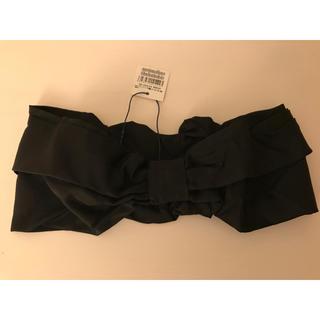 OPENING CEREMONY - 【新品、未使用、タグ付き】オープニングセレモニー黒×黒ドットリボンターバン
