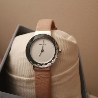 スカーゲン(SKAGEN)のskagen 時計 本革 スモーキーピンク スカーゲン(腕時計)